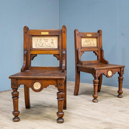 Pair of Arts & Crafts Hall Chairs (1 of 13)