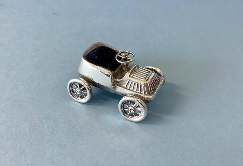 Antique Silver Novelty Vintage Car Pin Cushion (1 of 6)