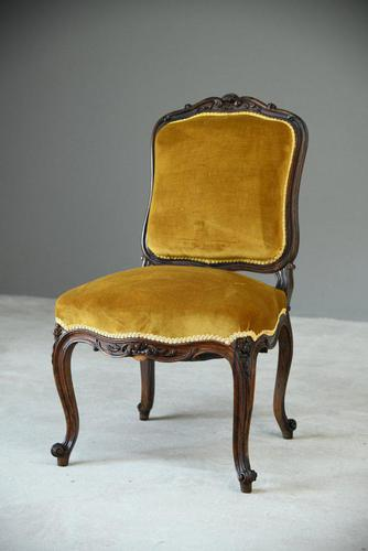 Upholstered Rosewood Occasional Chair (1 of 6)