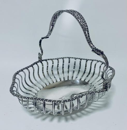 Antique Georgian 18th Century Solid Silver Swing Handle Bread Basket 1774 (1 of 19)