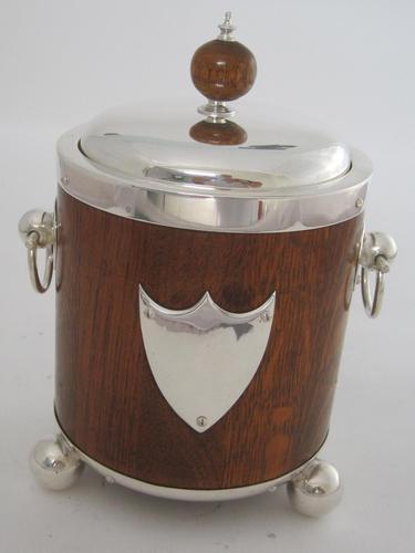 John Grinsell & Son Oak & Silver Plate Barrel (1 of 7)