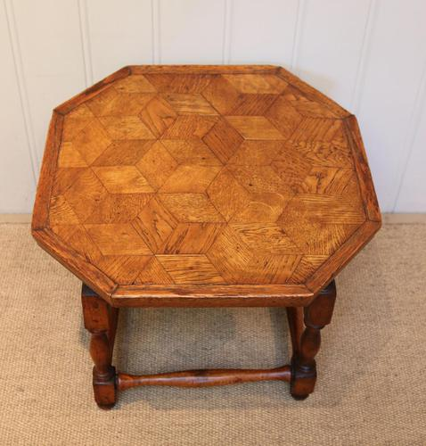 Small Oak Parquetry Top Table (1 of 10)