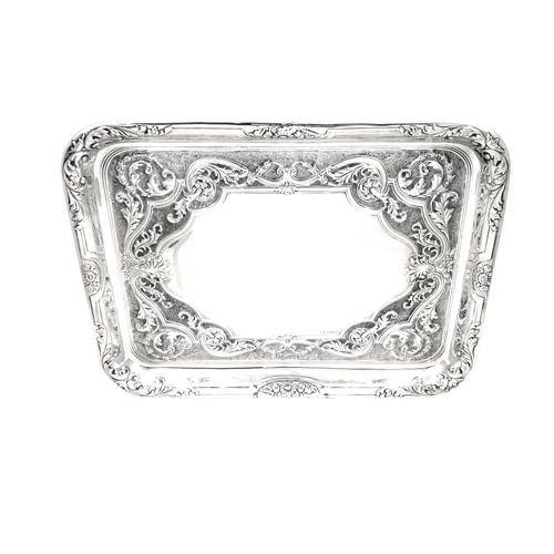 Antique Edwardian Sterling Silver Dressing Tray 1904 (1 of 9)