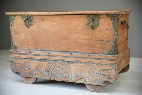 Indian Teak Dowry Chest (1 of 12)