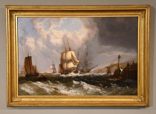 """Oil Painting by William Broome of Ramsgate """"Coastal Shipping"""" (1 of 7)"""