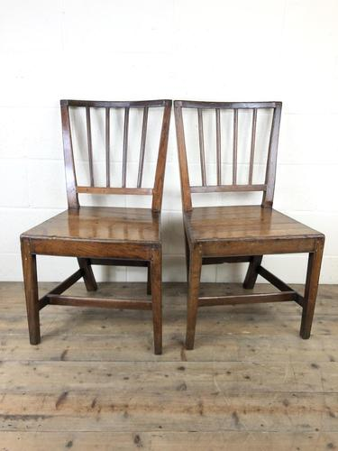 Pair of 19th Century Welsh Oak Farmhouse Chairs (1 of 10)
