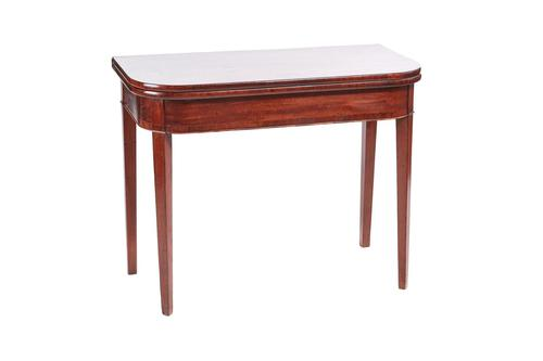 Mahogany Inlaid Tea Table George III (1 of 4)
