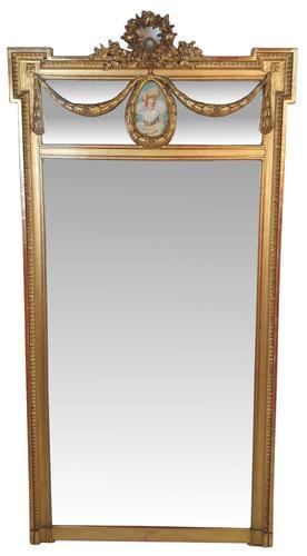 Tall 19th Century Gilt Framed Pier Hall Mirror (1 of 4)