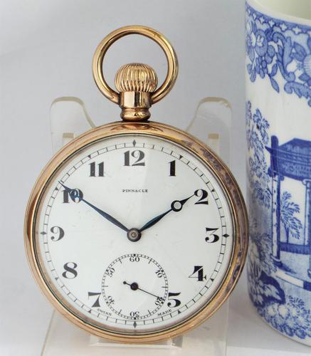 1930s Pinnacle Stem Winding Pocket Watch (1 of 4)