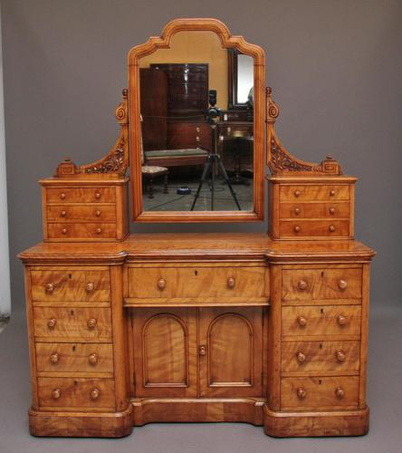 19th Century Satin Birch Dressing Table (1 of 14)