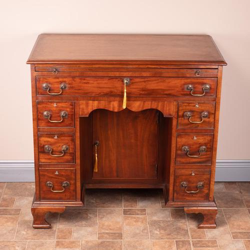 Mahogany Kneehole Desk With Brushing Slide (1 of 17)