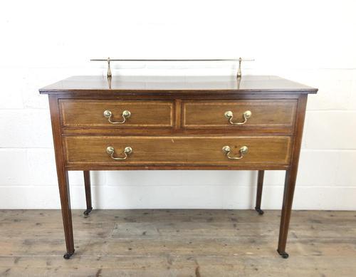 Antique Edwardian Inlaid Mahogany Side Table (1 of 11)