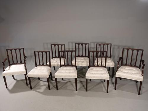 Handsome Set of 8 George III Period Mahogany Framed Chairs (1 of 2)