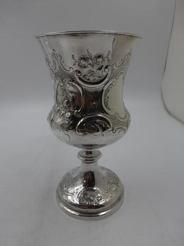 Antique Victorian Silver Goblet. Sheffield 1861 (1 of 8)