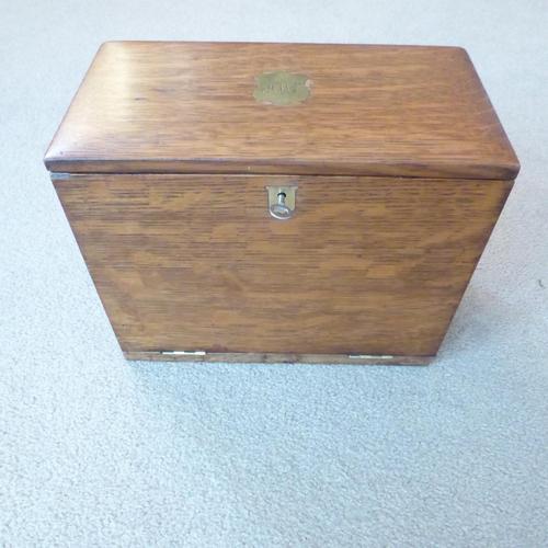Oak Edwardian Style Writing Box (1 of 4)