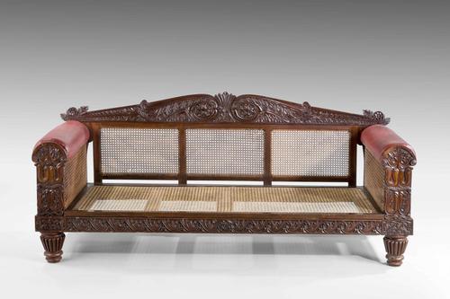 Mid 19th Century Indo-Portuguese Rosewood Sofa (1 of 9)