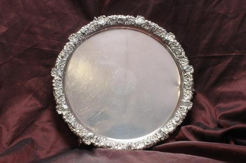 Old Sheffield Plate Card Tray (1 of 5)