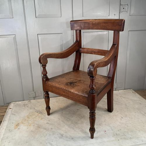 Antique Georgian Childs Mahogany Chair (1 of 10)