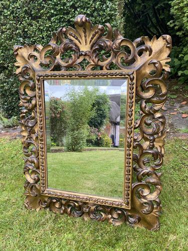 Florentine Carved Giltwood Mirror (1 of 5)