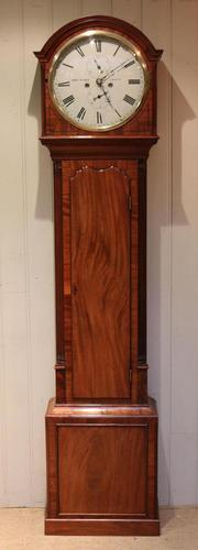 Small Scottish Mahogany Longcase Clock (1 of 12)