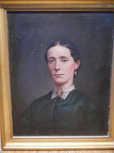 Victorian Oil Portrait of a Lady (1 of 6)