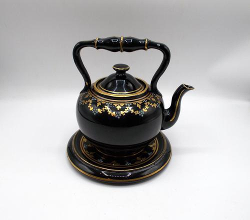 Jackfield Ware Teapot & Stand c.1840 (1 of 7)