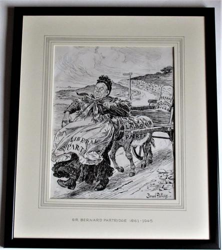 Bernard Partridge, Original Pen & Ink Drawing, Political Cartoon for Punch, 1906 (1 of 6)