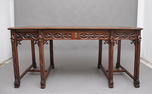 19th Century French Oak Desk in the Gothic Style (1 of 17)
