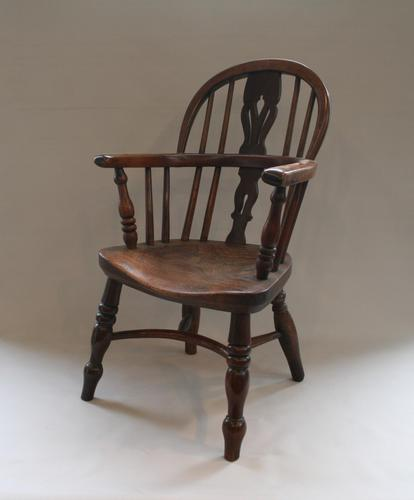 Yew & Ash Wood Child's Windsor Chair (1 of 5)