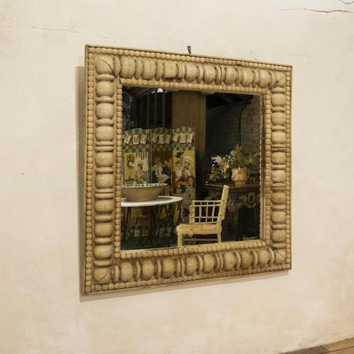 Large Square Late 19th Century French Wall - Overmantle Mirror (1 of 13)