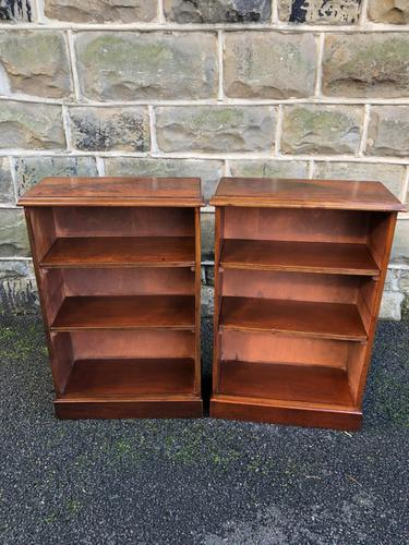 Pair of Antique Mahogany Open Bookcases (1 of 7)