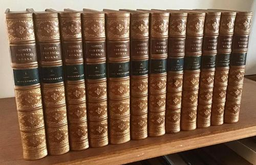 1868  Poetical Works  of Sir Walter Scott complete in 12 Volumes (1 of 6)