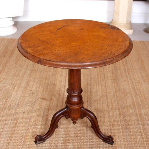 Georgian Walnut Oak Tripod Lamp Table (1 of 10)