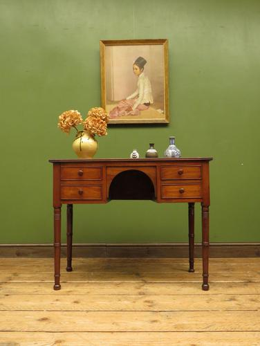 Slightly Wonky Antique Writing Table with Drawers (1 of 19)