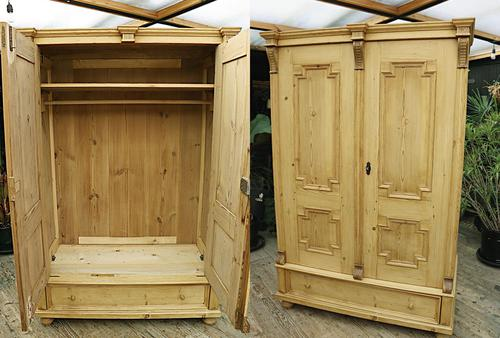 Fabulous & Large Old Pine Double 'Knock Down' Wardrobe - We Deliver! (1 of 18)