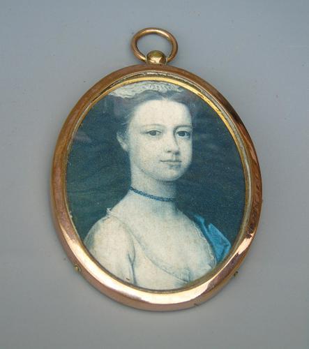 19th Century Rose Gold Frame Portrait Miniature (1 of 3)