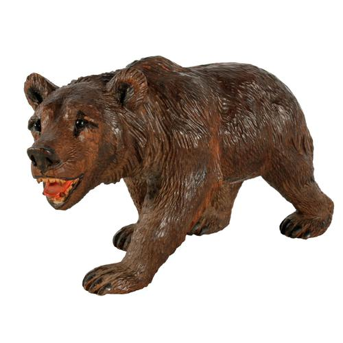 Swiss Carved Wood Black Forest Bear (1 of 7)