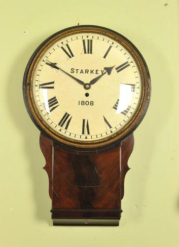 Early Large Convex Wooden Dial Clock (1 of 10)