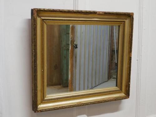 Charming 19th Century French Rectangular Gilt Mirror (1 of 6)