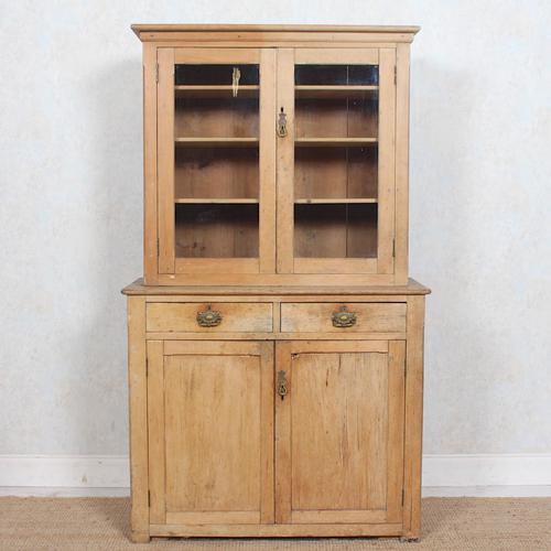 Arts & Crafts Pine Glazed Bookcase School Display Cabinet Dresser (1 of 12)