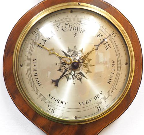 Good Mahogany 5 Glass Arched Top Barometer Thermometer by I Laffrancho Ludlow (1 of 5)