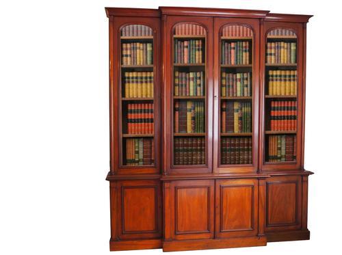 Victorian Mahogany Bookcase Cabinet (1 of 1)