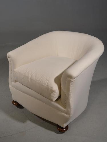 Attractive Early 20th Century Horseshoe Shaped Drawing Room Chair (1 of 4)
