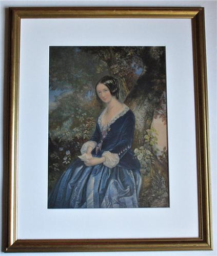 The Day Before Marriage, Colour Print by George Baxter, 1854, Framed (1 of 9)