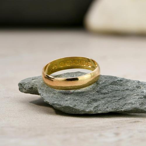 The Antique Victorian 1874 22ct Gold Wedding Band (1 of 2)