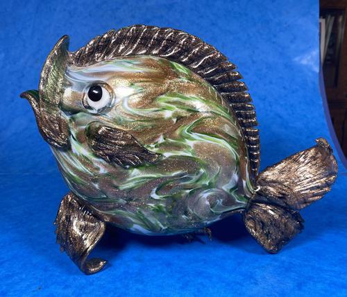 20th Century Italian Murano Glass Gold Lustre Fish (1 of 12)