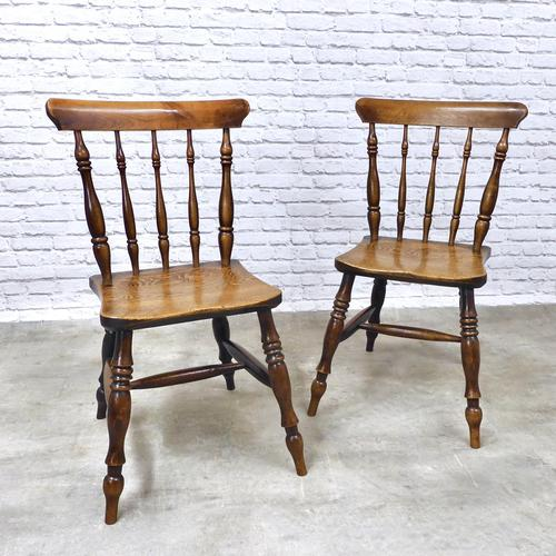 Superb Pair of Windsor Spindleback Side Chairs (1 of 6)