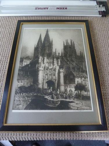 "Andrew .F. Affleck , Massive Etching- "" Burgos Cathedral, Spain"" (1 of 5)"