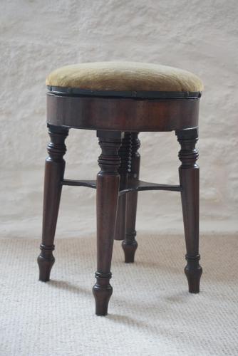 Victorian Mahogany Circular Revolving Piano Stool (1 of 9)