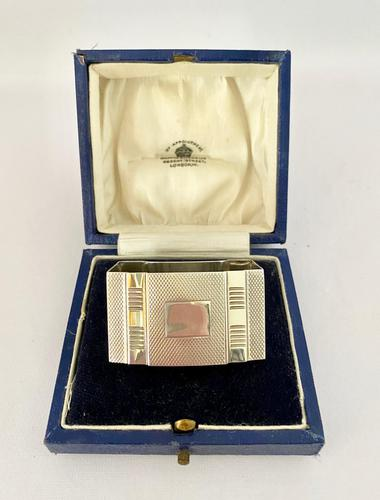 Sterling Silver Napkin Ring - Birmingham 1935 (1 of 7)